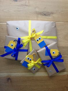 DIY Minions gift tags and wrap