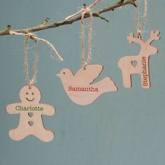 personalised wooden christmas decoration by sparks living | notonthehighstreet.com