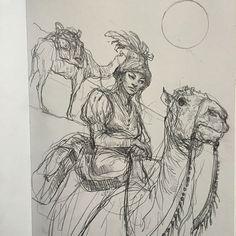 Camel rider by Karl Kopinski