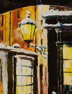 'London Winter' by Gleb Goloubetski Oil on Canvas 59.5cm x 49.5cm