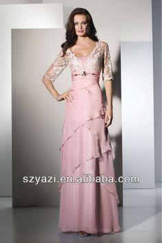 Vestido de encaje de manga corta rosada larga de gasa k450-XL Falda-Identificación del producto:300000143572-spanish.alibaba.com