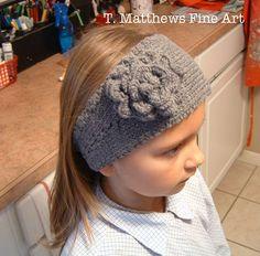 T. Matthews Fine Art: Free Knitting Pattern - Headband Ear Warmer (Thin Yarn Version) NEW AND IMPROVED