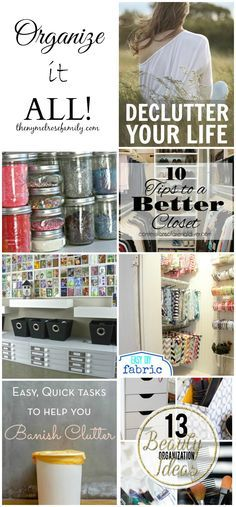 Want to get organized ? Check out all these great organization tips and get organizing ...