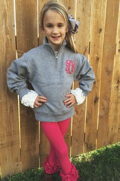 Monogrammed Youth 1/4 Zip by ShopTinRoofDesigns on Etsy