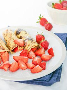 Grieß-Pfannkuchen mit Erdeeren