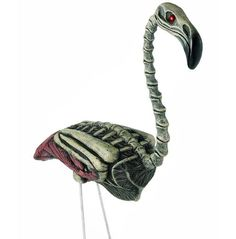 A spooky twist on a classic yard decoration, shock your friends with this flamingo zombie Halloween lawn ornament. Excellent sculpt detail of flamingo. Halloween Zombie, Zombie Halloween Decorations, Halloween Spirit Store, Halloween Lawn, Theme Halloween, Halloween Costumes, Halloween Ideas, Halloween Stuff, Halloween Crafts