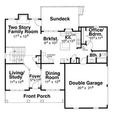 Cottage Level One of Plan 80215