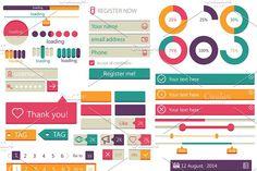 UI Kit by Sabelskaya on @creativemarket