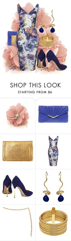 """""""Floral Piece Contest"""" by rockreborn ❤ liked on Polyvore featuring New Look, Orla Kiely, Nicholas Kirkwood, Alvina Abramova, Armani Exchange and blue floral dress"""