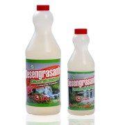 Detergente líquido altamente concentrado formulado especialmente para eliminar residuos calcáreos en pisos y cerámicas.  Tiene propiedades desoxidantes, tiene gran efectividad en cerámicas de bañ…