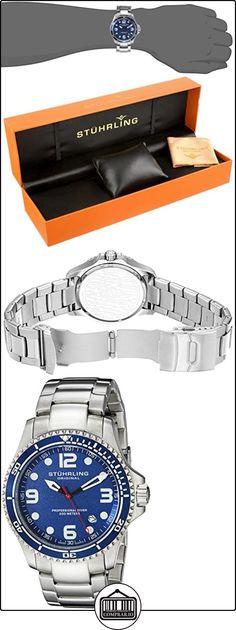 Stührling Original 593.332U16 - Reloj analógico para hombre, correa de acero inoxidable, color plateado  ✿ Relojes para hombre - (Gama media/alta) ✿