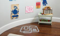 Put a vinyl racetrack on your floor; the kids will love it! #Uppercase Living