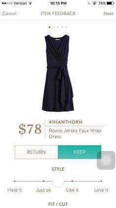 Stitch fix Hawthorne 41 Rocco Jersey Faux wrap black dress