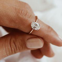 Bespoke Oval Diamond Solitaire. Natalie Marie Jewellery.