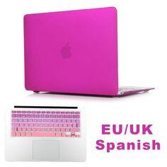 Matte Sleeve Case For MacBook Air 13.3 Pro 13 15 Retina A1706 A1707 Free Gift Gradient EU/UK ES RU US English Keyboard Protector
