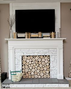 Diy Faux Fireplace For Under $600 {the Big Reveal}