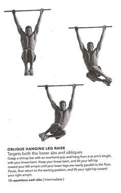oblique hanging leg raise