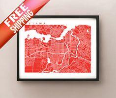 OttawaGatineau City map  City Posters  Pinterest  City maps