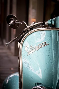 Sexy Vespa with raindrops!