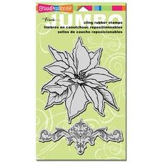 Stampendous Cling Stamp JUMBO POINSETTIA Rubber UM CRS5041 #CAS #Cards #Stash