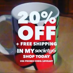 June Special at my Society6 webshop - 20% Off + Free Shipping on Everything with Code LOVEART  Start: Sunday, 3rd June 2018 @ 12:00am PT End: Monday, 4th June 2018 @ 11:59pm PT  - Mug in video is called 'Floral Decay'. @society6 . #specialoffer #discount #shareyoursociety6 #retrostyle #hoganartgarage #mugoftheday #mugs #society6 #homestyle #kooky #floral #cups #homestyle #coffeemugs #loveart #artoftheday #birthdaygifts #stylish #styleguide #artvideo #specialdeals #promo #viral Laptop Covers, Art Market, Love Art, Art Day, Birthday Gifts, Coding, Gift Ideas, Stickers, Free Shipping