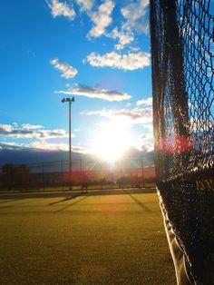 Blue Sky Shining on a Tennis Court http://www.centroreservas.com/