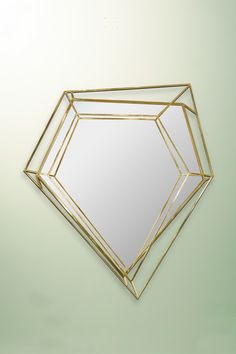Inspired by asymmetrical and dazzling shapes of a diamond rock, this five-sided polygon small wall mirror is the ultimate combination of geometry and design. Mid Century Style, Mid Century Design, Small Wall Mirrors, Modern Mirrors, 3d Mirror, Mid Century Modern Mirror, Interior Design Shows, Mid Century Living Room, Mid Century Furniture