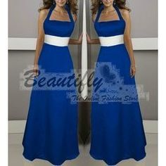 deep purple with royal blue bridesmaids dresses - Google Search