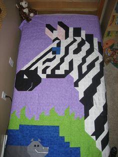 Zebra Quilt Pattern-PDF. $6.00, via Etsy.
