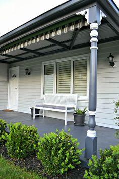 Trendy Exterior Paint Colora For House Weatherboard White Trim 47 Ideas Best Exterior Paint, Exterior Paint Colors For House, Paint Colors For Home, Paint Colours, Exterior Color Schemes, House Color Schemes, Exterior Design, White Trim, Dulux Tranquil Retreat