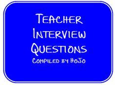 HoJos Teaching Adventures: Teacher Interview Questions