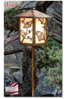 Butterfly Garden Lantern Bottom Arm - LED – Welcome to Yardify