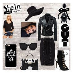 """Black Out"" by warleda on Polyvore featuring Exclusive for Intermix, WALL, Steve Madden, San Diego Hat Co. and Dsquared2"