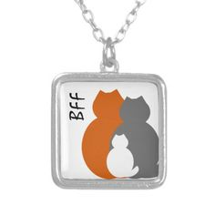 fat cats bff necklace