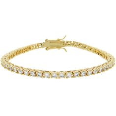 Goldtone Victorian CZ Tennis Bracelet, $41.00