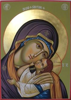 A Beautiful Icon of the Mother of God Religious Images, Religious Icons, Religious Art, Madonna, Fortune Cards, Paint Icon, Bible Images, Russian Icons, Byzantine Icons