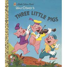 The three little pigs have never looked so cute and the big bad wolf never looked so bad in this retelling of the classic fairy tale! Vintage Disney artwork from the makes this book an important addition to every Little Golden Book collector's library. Jim Henson, Good Books, My Books, Story Books, Book Publishing Companies, Classic Fairy Tales, Disney Artwork, Joelle, Three Little Pigs