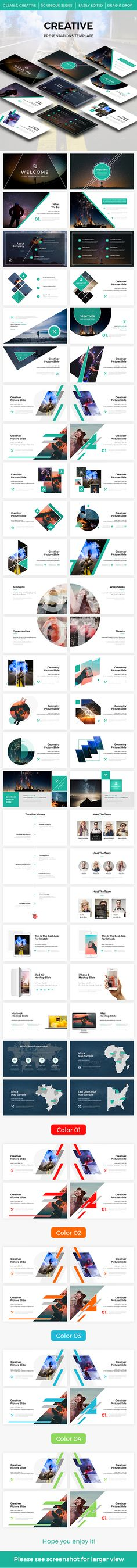 Creative 2.0 Powerpoint Template 2017 - Creative #PowerPoint Templates