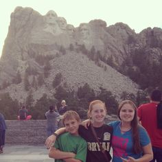 Sarah,Zach and Nicole at Mt Rushmore