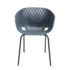 Click to zoom - Quilt moulded armchair stone