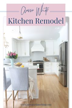 I'm thrilled to get to share our classic white kitchen remodel with you! This kitchen was certainly a dream come true for us! Get comfy and follow along as we dive into all the details! Kitchen Backsplash, Kitchen Counters, Backsplash Ideas, Kitchen Sink, Kitchen Cabinets, Kitchen Styling, Kitchen Decor, Kitchen Lighting Fixtures, Light Fixtures