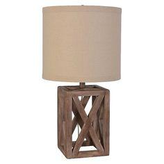 Mastercraft Oversized Wood Assembled Table Lamp