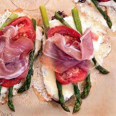 Asparagus-Cheese Tartines