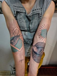 Inked arms