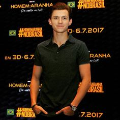 Some photos of Tom and Laura at the press conference today, in São Paulo! 🇧🇷  -  #homecoming #tomholland #peterparker #thelostcityofz #marvel #lauraharrier #spiderman