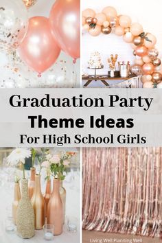 Looking for fresh graduation party theme ideas for your high school daughter's graduation? I have several graduation party ideas that are easy and you can DIY! Pink Graduation Party, Graduation Party Desserts, Outdoor Graduation Parties, Graduation Party Centerpieces, Grad Party Decorations, Graduation Party Planning, College Graduation Parties, Graduation Ideas, Grad Parties