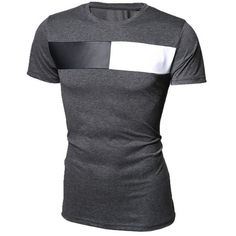 10.47$  Watch here - http://di19d.justgood.pw/go.php?t=175658212 - Modish Round Neck Color Block PU-Leather Splicing Short Sleeve Men's T-Shirt 10.47$