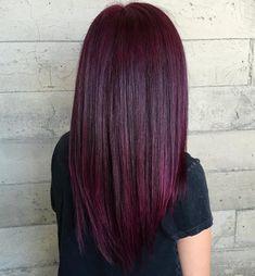 Long Straight Dark Burgundy Hair Dark Maroon Hair, Burgundy Hair With Highlights, Red Burgundy Hair Color, Deep Burgundy Hair, Burgundy Balayage, Red Violet Hair, Violet Hair Colors, Red Brown Hair, Peekaboo Highlights