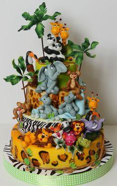 Detailed jungle cake