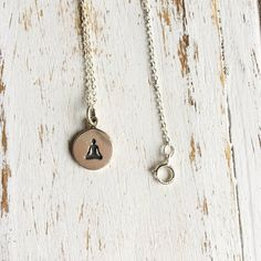 Beautiful Dainty Lotus Pose Yoga Charm Necklace Perfect as a Valentine's, Birthday, Christmas, Bridesmaid Present! Meaning of the Necklace: Lotus Pose Materials: Handmade Sterling Silver Chain & Charm Silver Pendant Necklace, Sterling Silver Necklaces, Silver Earrings, Silver Jewelry, Silver Ring, Necklace Chain, Silver Bracelets, Diamond Jewelry, Onyx Necklace
